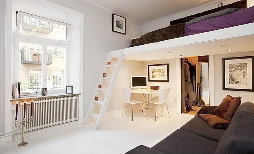 """Дизайн маленьких квартир с высокими потолками """" картинки и ф."""