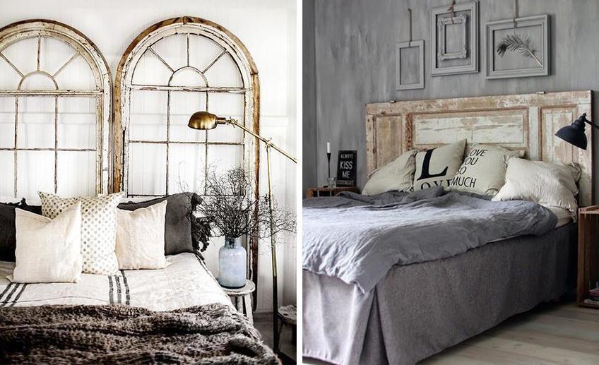 15 примеров дверей в изголовье у кровати