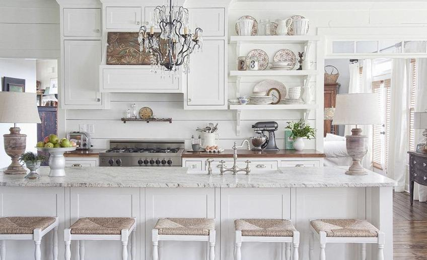 Elegant white kitchen
