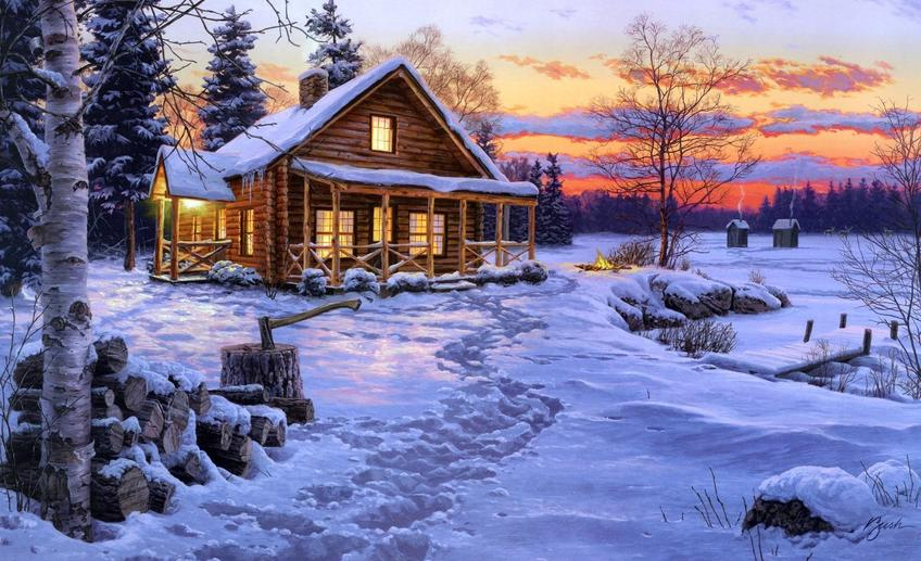 Snow house widescreen high resolution wallpaper for desktop background download snow house images free