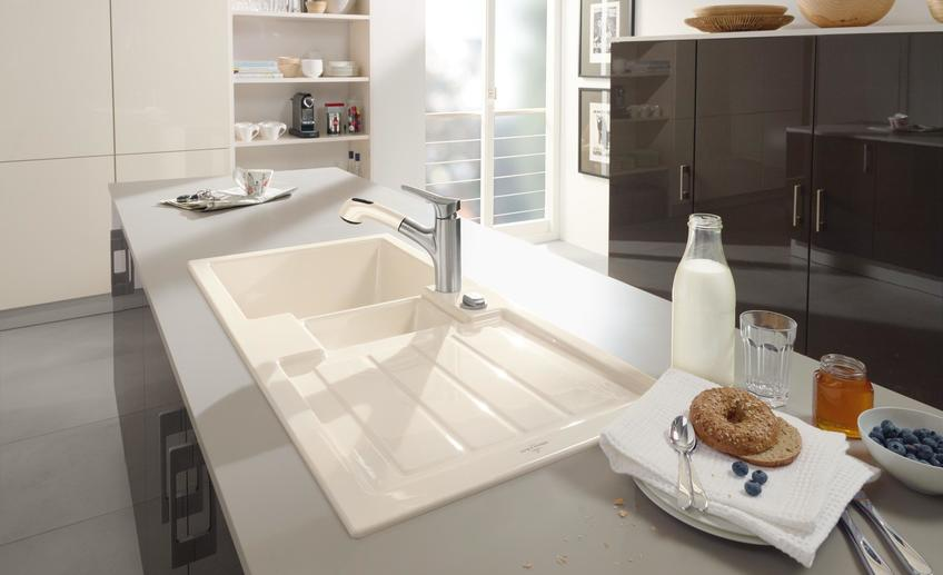 Beautiful kitchens with two sinks one tap a clever little mat beautiful kitchen sink