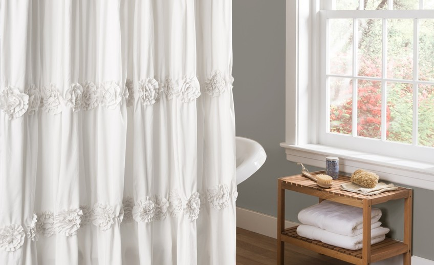 Wonderful white shower curtain bathroom with photos of white shower design at design