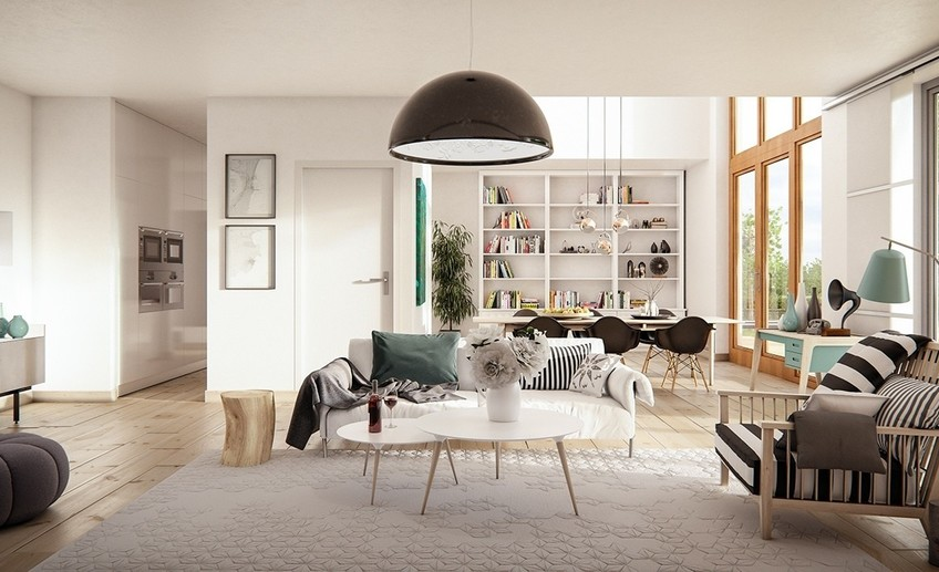 Striped scandinavian decor