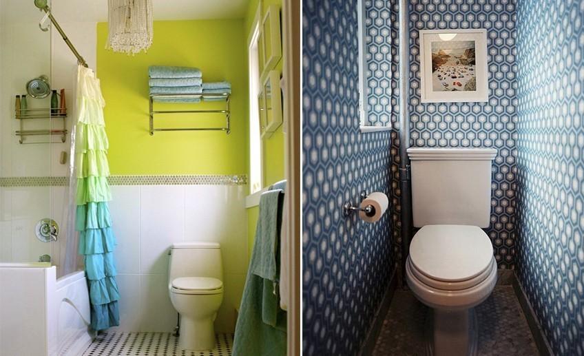 Рисунок в туалете своими руками Делаем бюджетный ремонт в ванной своими руками