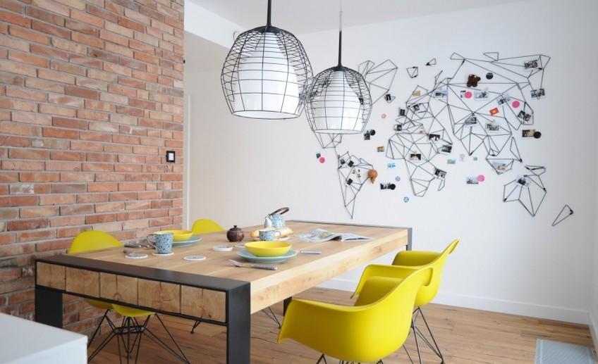 Акцентная стена на кухне своими руками