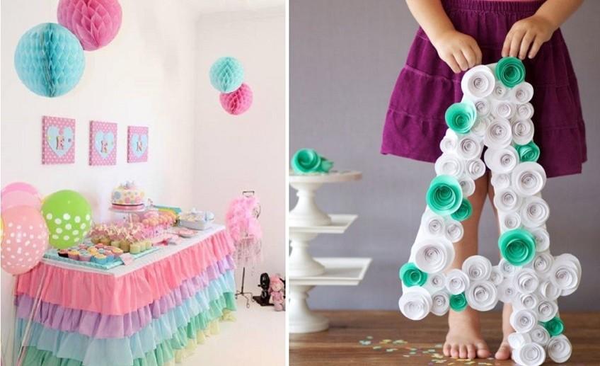 Украшения для комнаты в день рождения своими руками