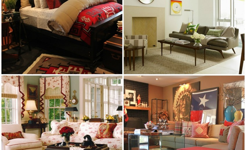 Interior decoration in various styles 1