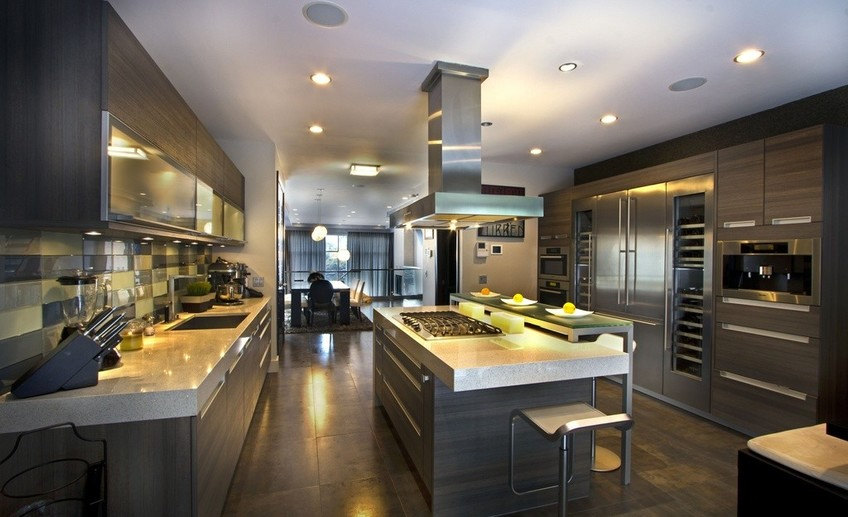 Contemporary kitchen with breakfast bar i g is 18cg4um4xt7q5 mofk3