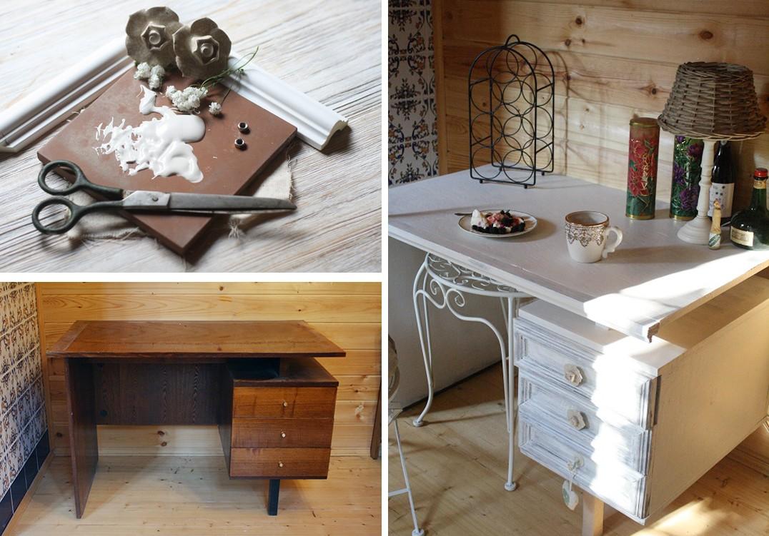 Как декорировать старый столик своими руками фото 759