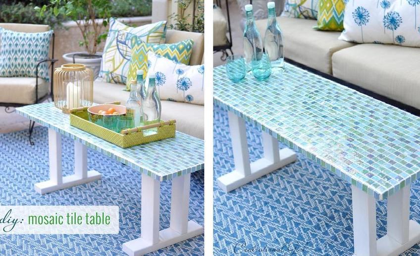 162Как сделать мозаичный столик мастер класс