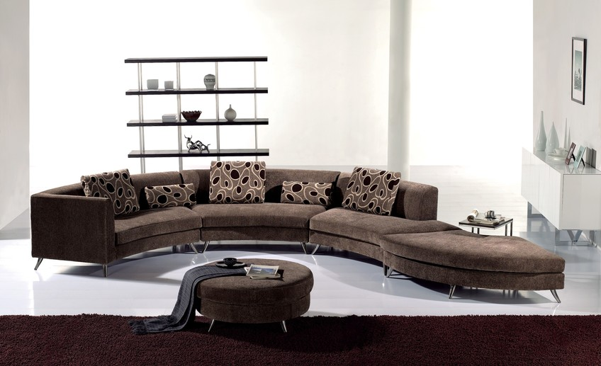 Usual furniture luxury curved sectional sofa for living room furniture
