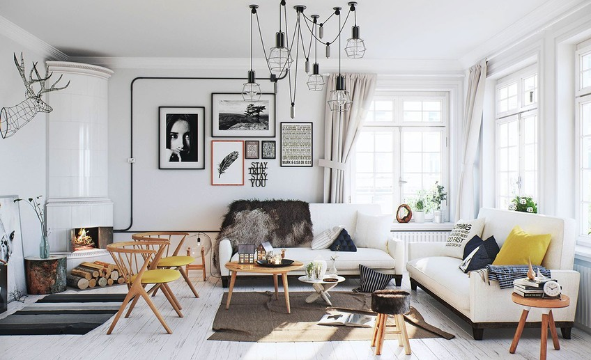 Usual scandinavian living room  1