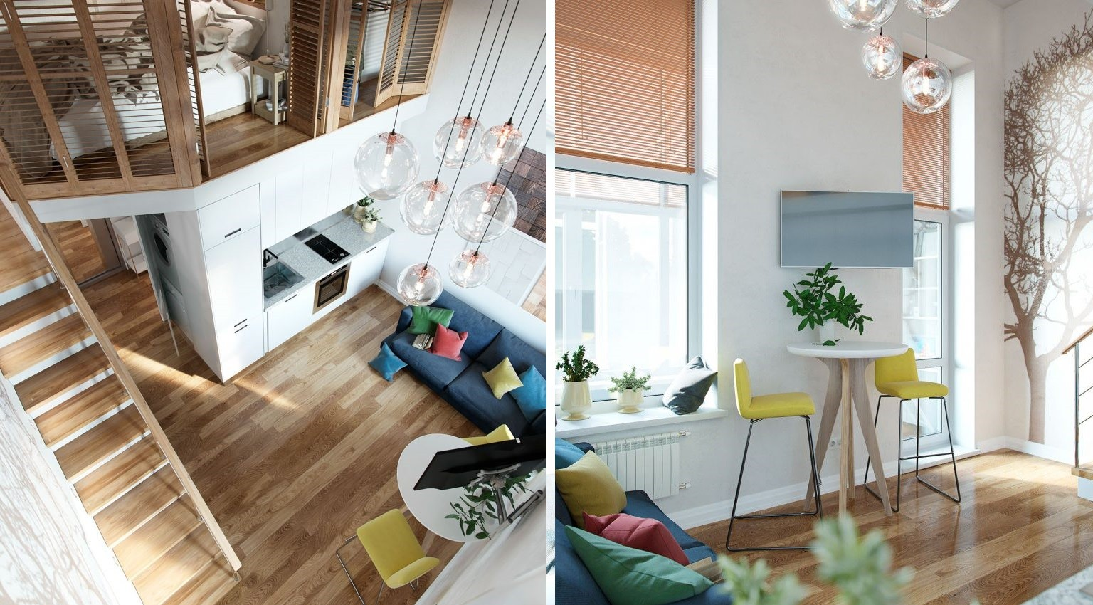 Moscow small loft apartment 3 768x853