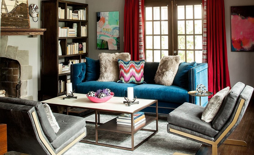 Usual cool eclectic living room furniture