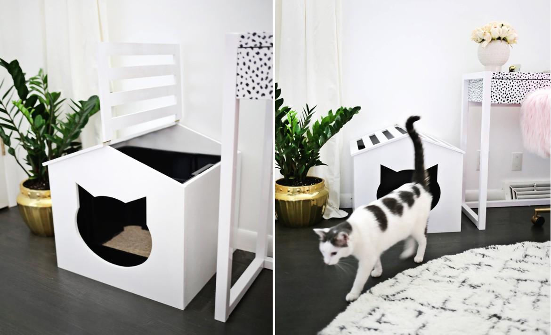 Коврик под кошачий туалет своими руками