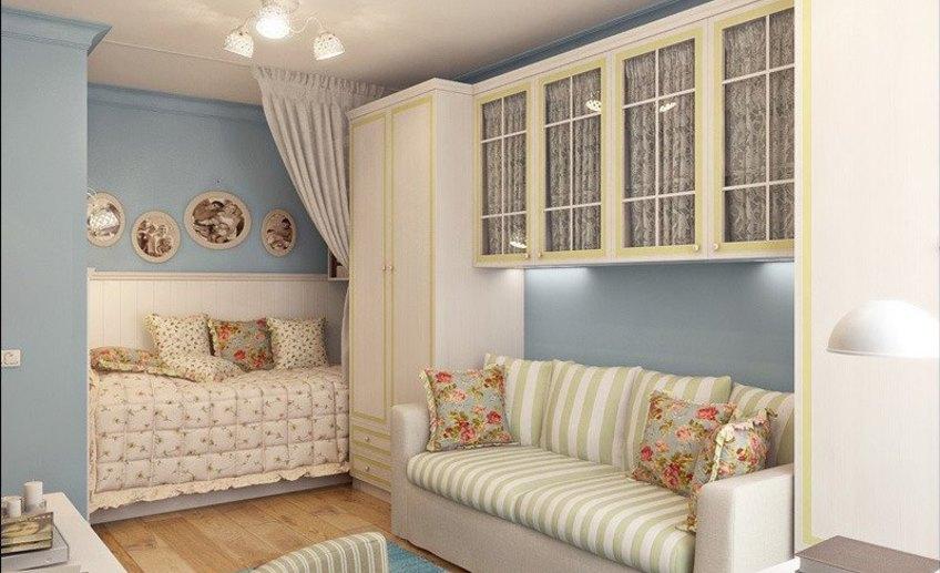 Однокомнатная квартира хрущевка для семьи с ребенком дизайн фото