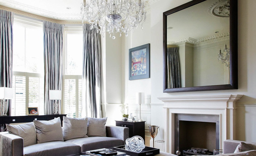 Usual large wall mirrors for living room