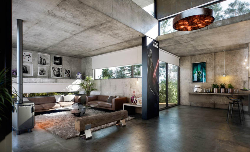 Интерьеры из бетона бетон на заказ екатеринбург