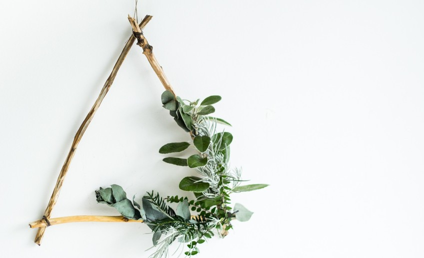 Usual diy foraged triangle christmas wreath 25