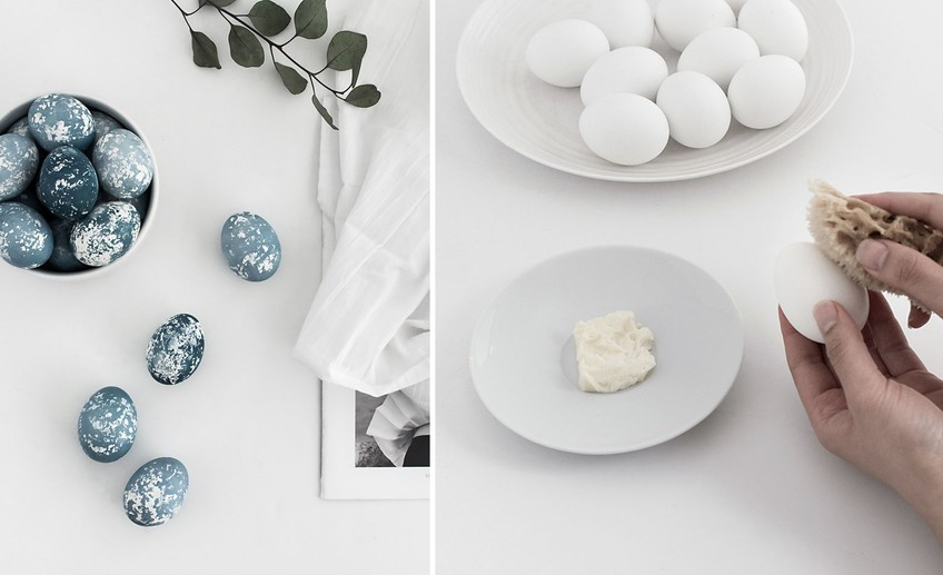 Usual diy naturally dyed speckled easter eggs 2