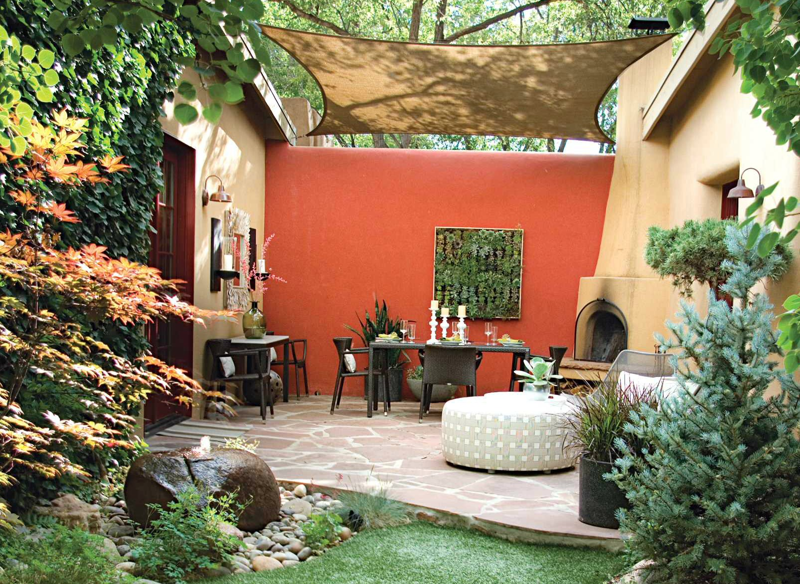 How to make an outdoor canopy decorated by garden border design ideas in addition by outdoor round chaise lounge