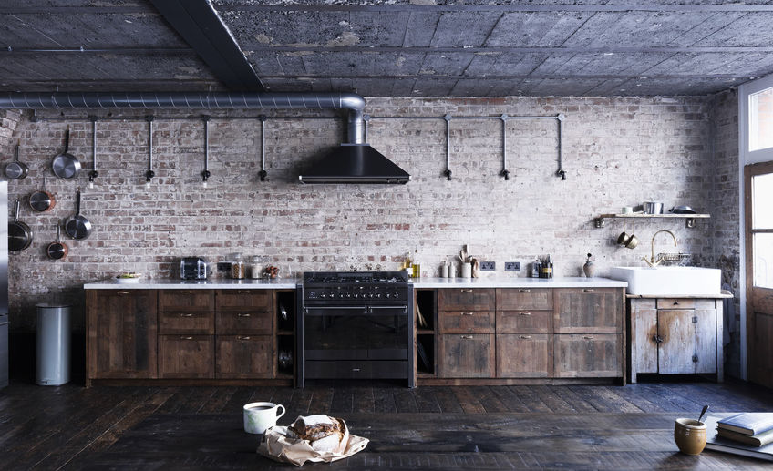 Usual mark lewis interior design hoxton square loft kitchen brick reclaimed wood rory gardener photo 2