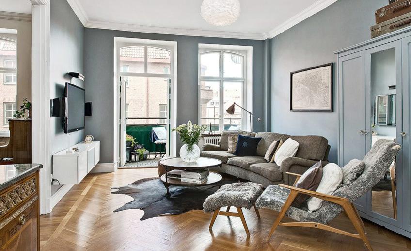 Дизайн стен в гостиной: фото, идеи, советы профессионалов