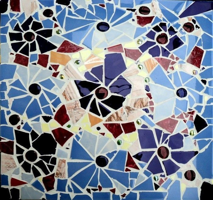 Своими руками сделать мозаику из плитки