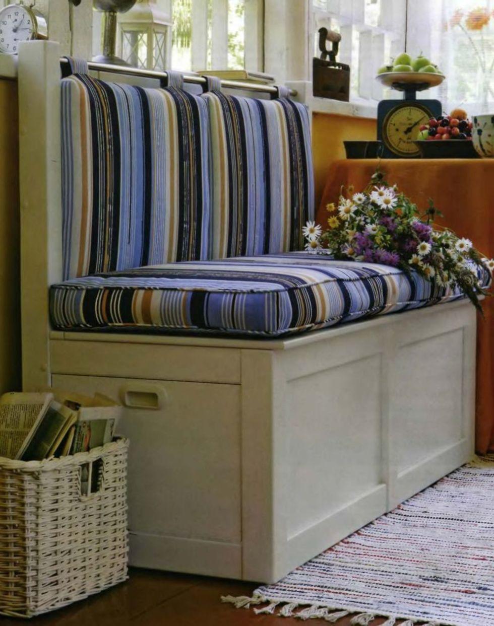 Дачный диван для веранды и комплект подушек своими руками.