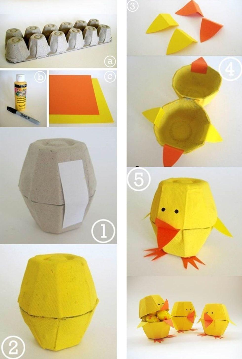 Поделки из упаковки для яиц фото