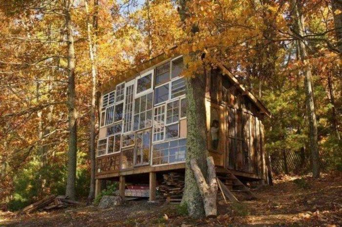Построить домик в лесу своими руками