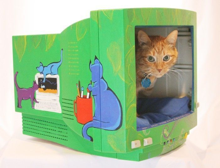 Домики для кошек своими руками мягкий и уютный