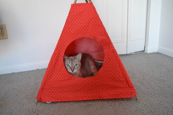 сделать домик своими руками для кошек