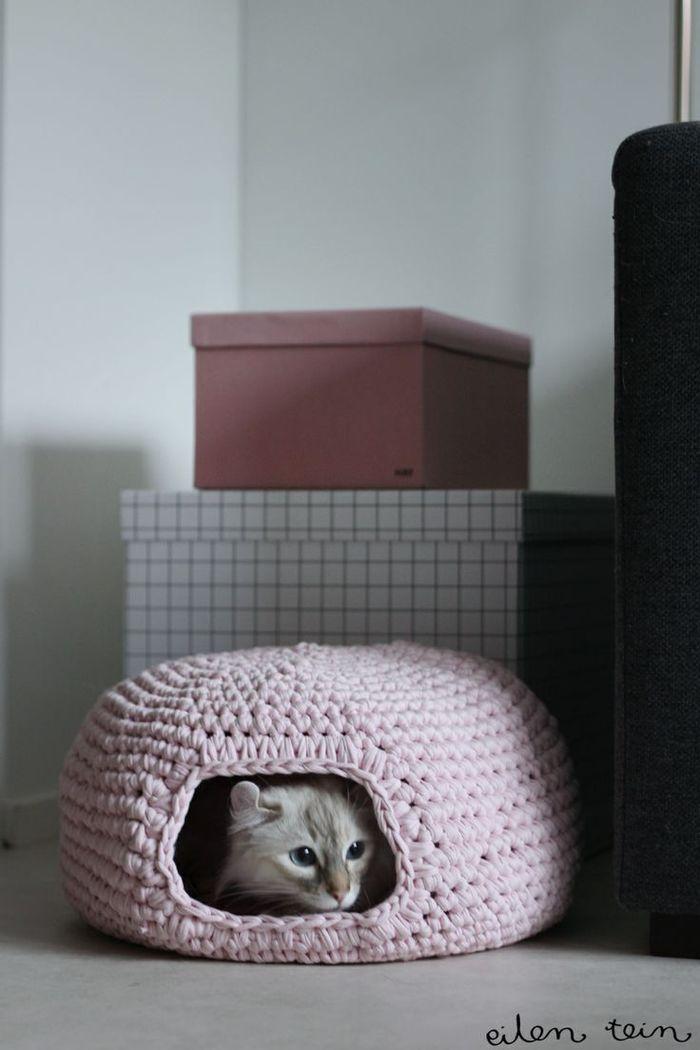 теплые домики для кошек своими руками
