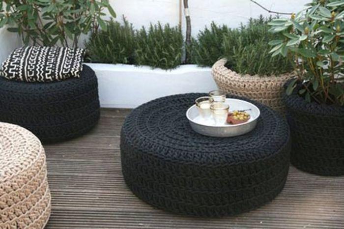 Мебель из шин для сада и огорода своими руками фото