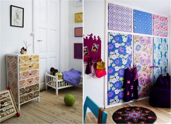 Как обновить шкаф в детской своими руками 96