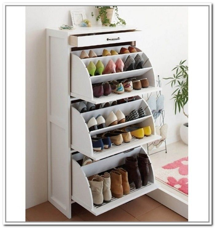 Best shoe rack ideas pictures to pin on pinterest pinsdaddy for Hidden storage ideas