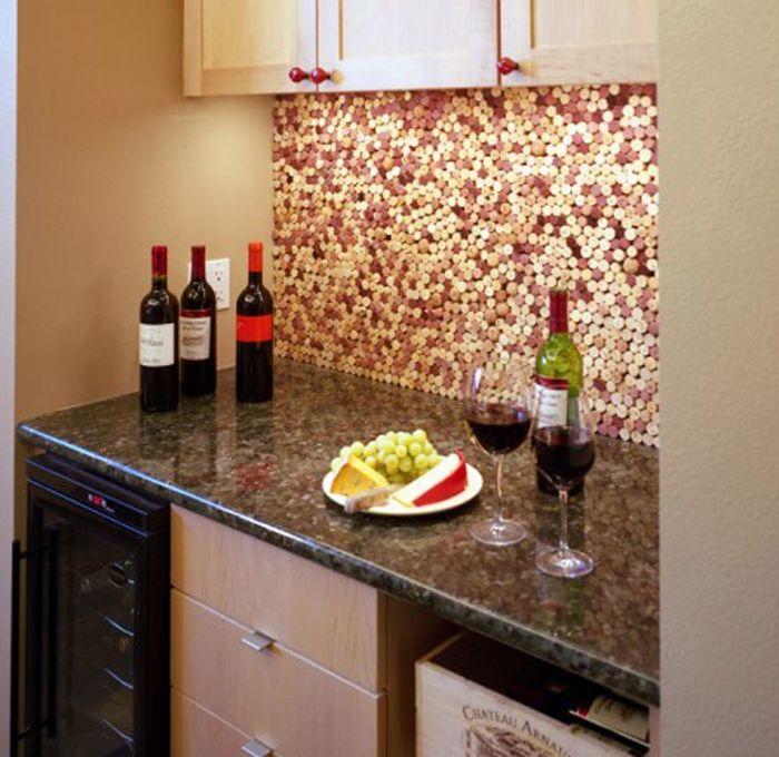 Как сделать кухонный фартук из подручных материалов