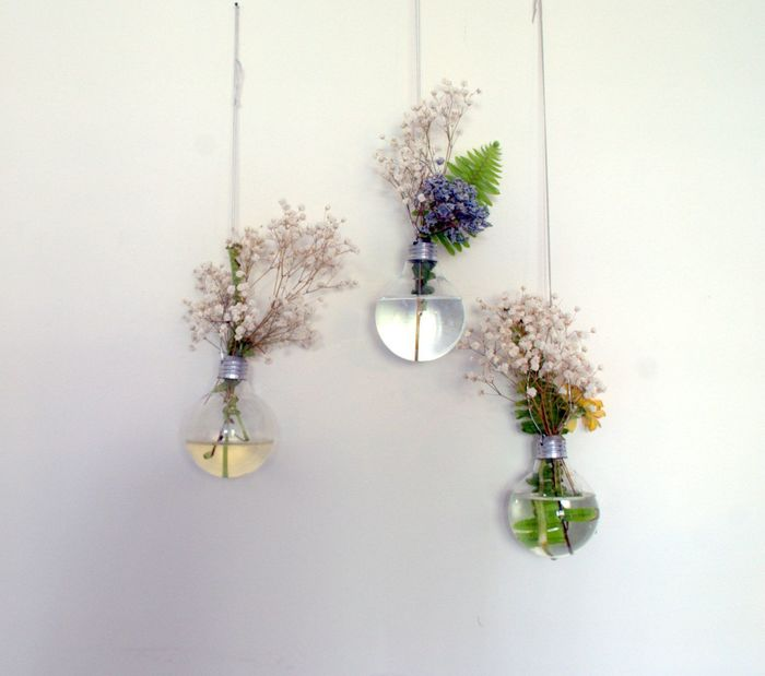 Цветы в лампочке своими руками