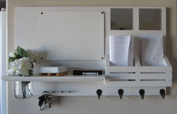 Entryway Mirror With Hooks And Shelf 3 Image Of Easy