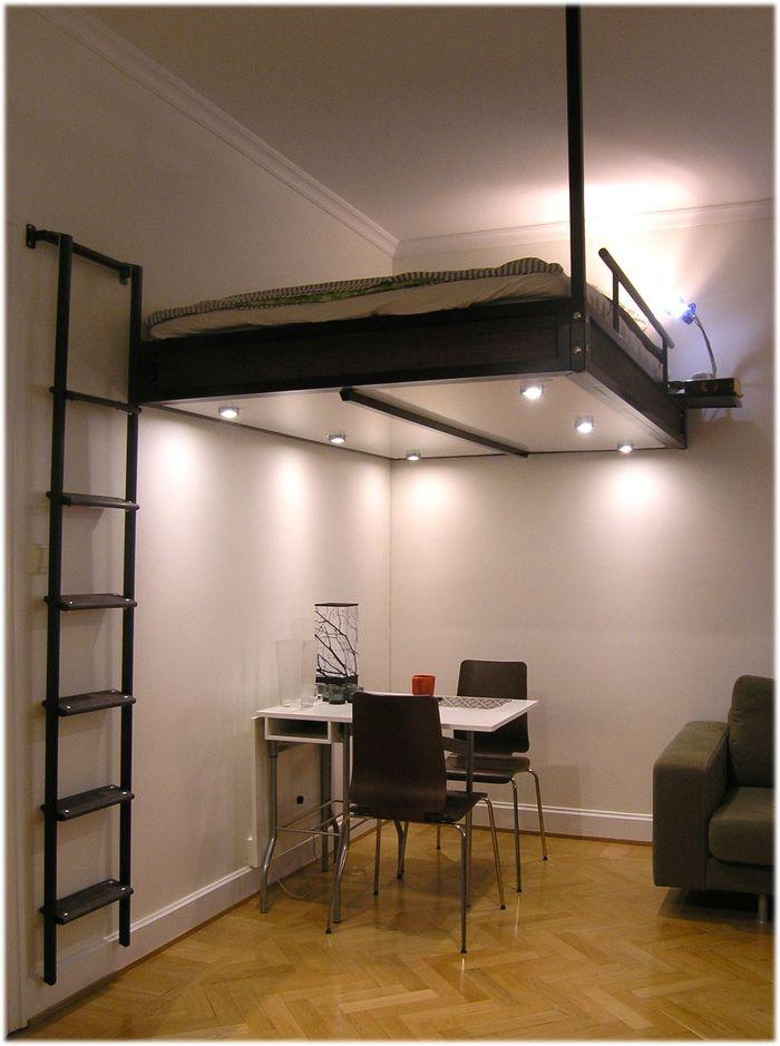 Спальня под потолком своими руками 75