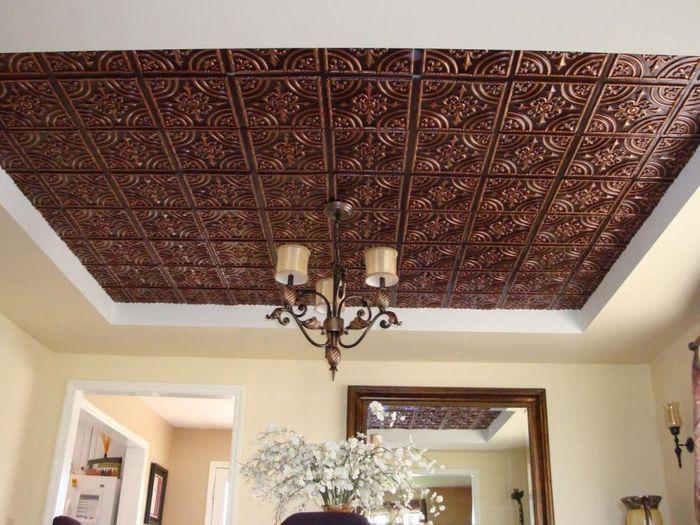 как красиво оформить потолок