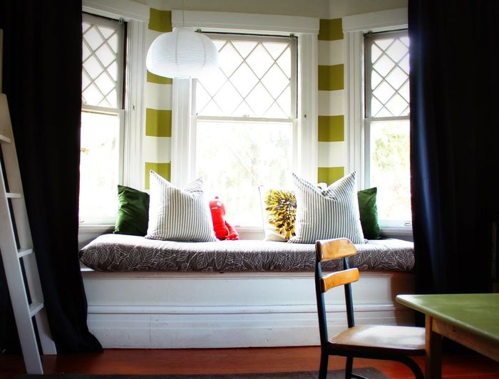 Bow window curtain ideas