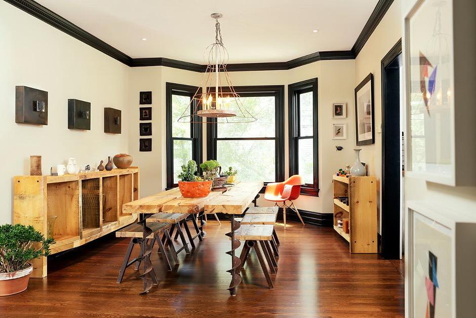 дом в Бирменгеме скандинавская мебель, африканский текстиль