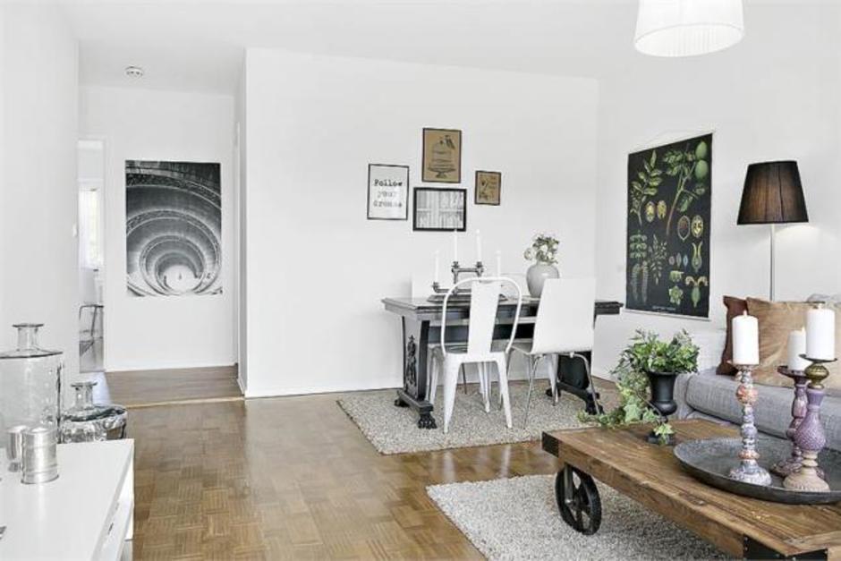 небольшая квартира в скандинавском стиле