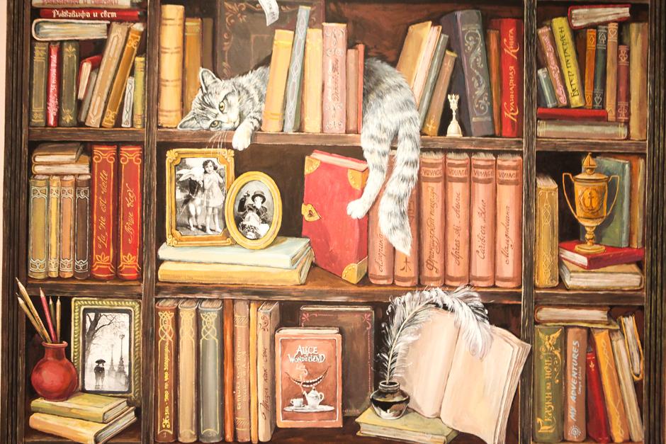 жизнь картинка книги на полках для стен комбинезон легкого
