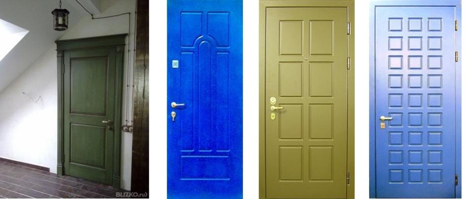 Какой цвет покрашены входные двери