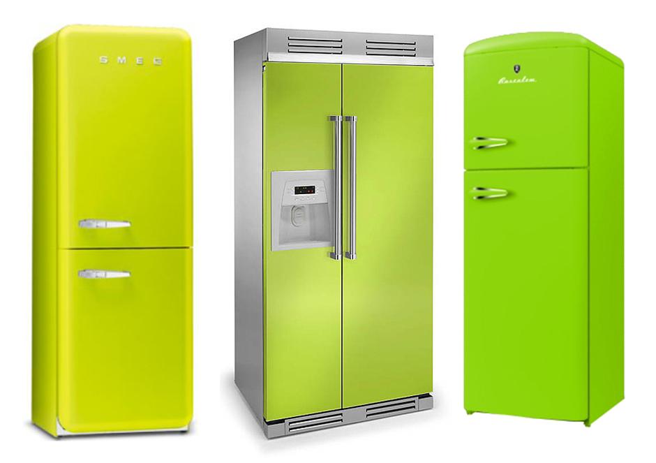 Купить холодильник зелёного цвета