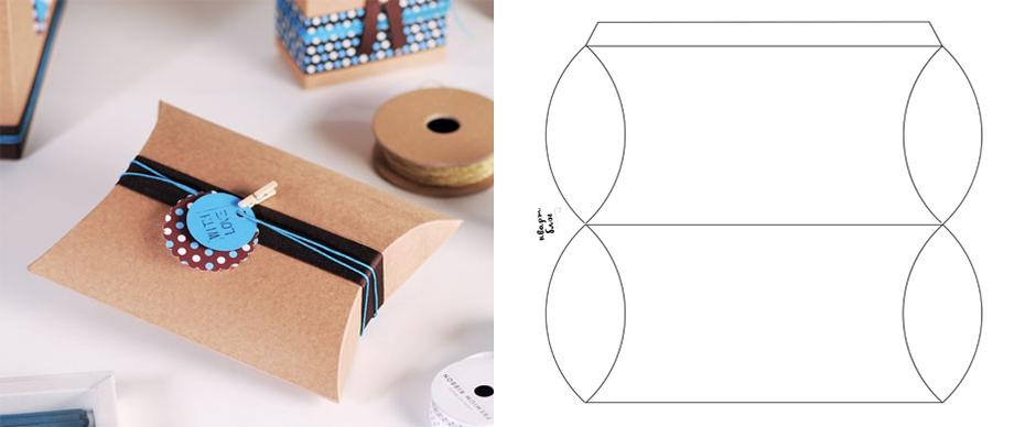 pillow box коробочка-бонбоньерка