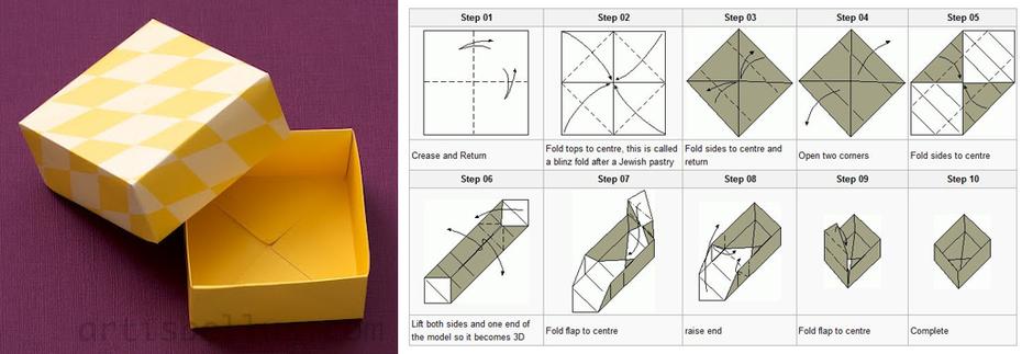 Подарочная коробка из бумаги своими руками схемы
